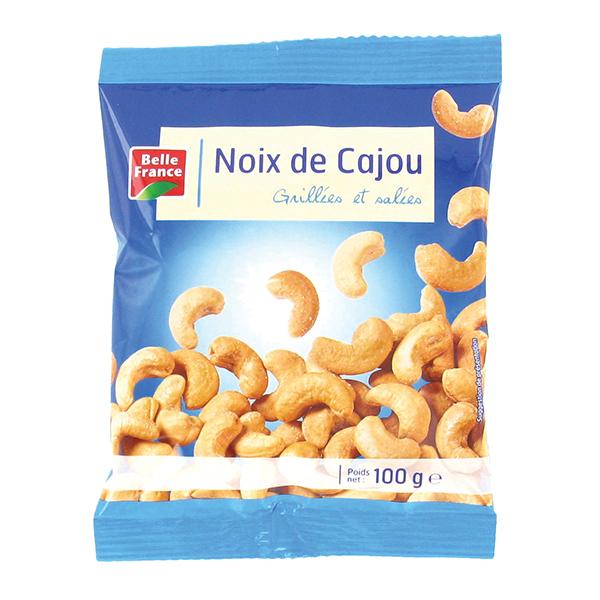 Sachet de noix de cajou grill es et sal es 100g achat pas cher - Noix de cajou grillees salees ...