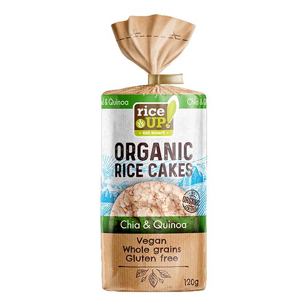 galettes quinoa et graines de chia bio rice up 120g. Black Bedroom Furniture Sets. Home Design Ideas