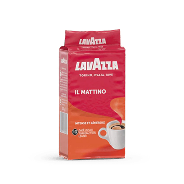 caf moulu lavazza mattino 250g x 8 pour machine caf au bureau achat pas cher. Black Bedroom Furniture Sets. Home Design Ideas